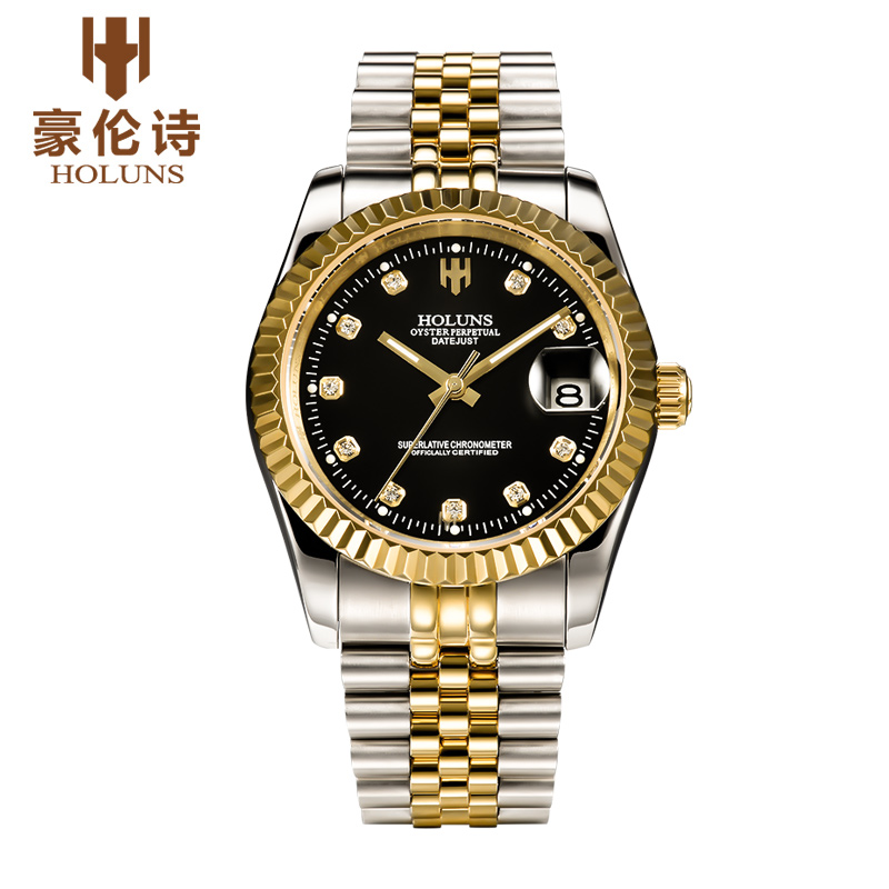 ФОТО HOLUNS R004 Watch Geneva Brand oyster perpetual datejust series men's luxury automatic mechanical 116203 relogio masculino