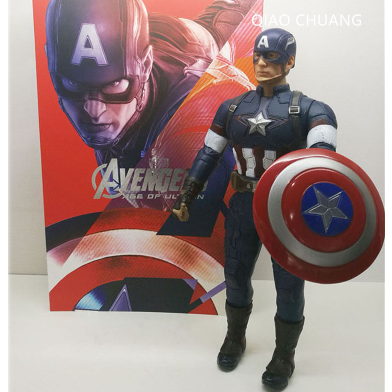 Avengers:Infinity War Superhero Avengers Captain America Steven  Rogers Justice League Action Figure Collectible Model Toy L438 1 6 scale figure captain america civil war or avengers ii scarlet witch 12 action figure doll collectible model plastic toy