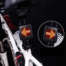 Bike Light Smart Steering Brake Taillights USB Charging Bicycle Lights Riding Warning Safety Lights Riding Accessories e smart plug in bicycle laser tail lights safety warning lights