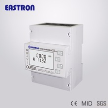 Energy-Meter Modbus Rtu Din Rail Four-Wire Three-Phase RS485 And Pulse-Output NON-MID