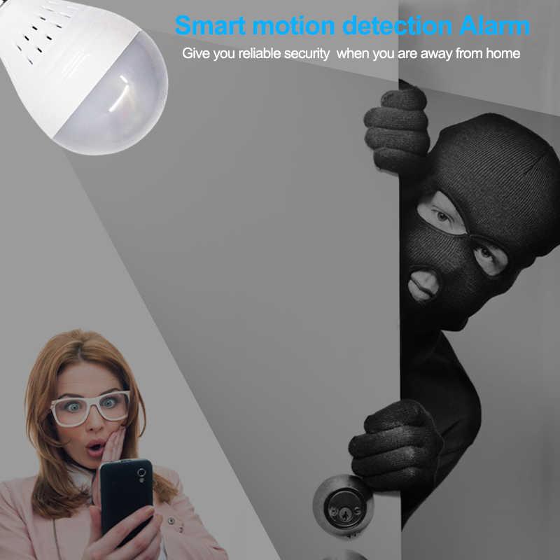 Wdskivi панорамный 360 VR 960 P HD IP Камера smart Светодиодный свет Starlight ночного видения лампы домашней безопасности Wi-Fi беспроводной Камера