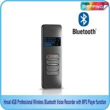 شحن مجاني!! جديد 4GB المهنية سماعة لاسلكية تعمل بالبلوتوث USB مسجل صوتي مع وظيفة مشغل MP3