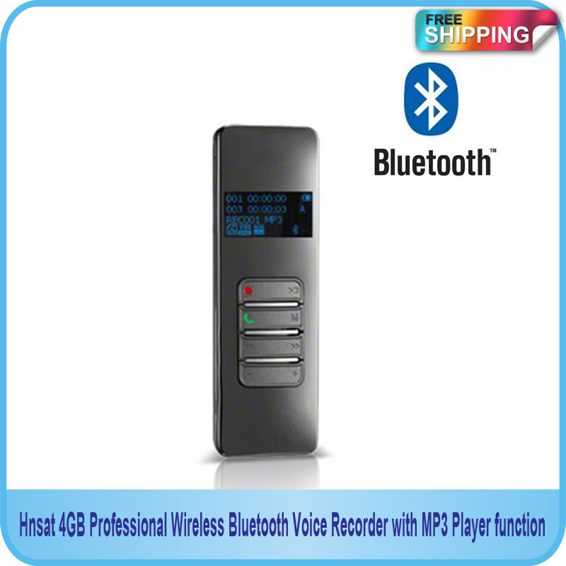 Free Shipping!! NEW 4GB Professional Wireless Bluetooth USB Voice Recorder with MP3 Player function 1 0 led digital usb rechargeable voice recorder w mp3 player 4gb