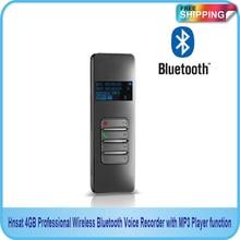 Бесплатная Доставка! Новый 4 Гб Профессиональный беспроводной Bluetooth USB голос Регистраторы с MP3 плеер функция