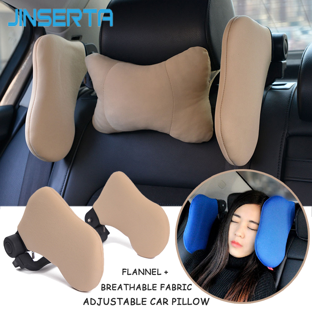 JINSERTA Car Neck Pillow Seat Headrest Travel Support Sleep Rest Pillow For Kids And Adults Children Automobile Car Accessories