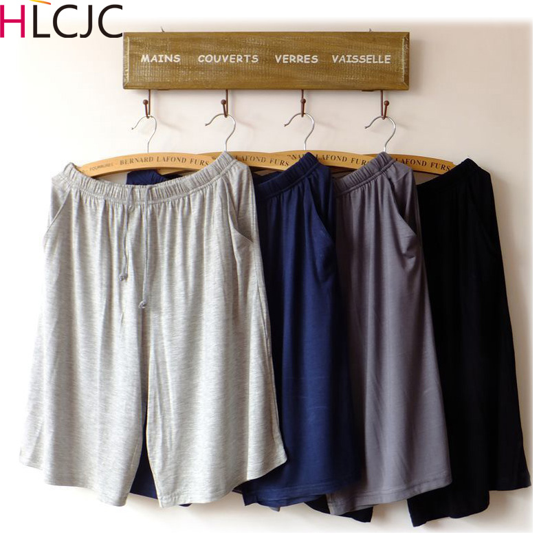 XL-XXXXL Men Male Cotton Pajama Pants At Home Underwear Fashion Shorts Summer Nightgown Lounge Pants Casual Nature Beach Pants