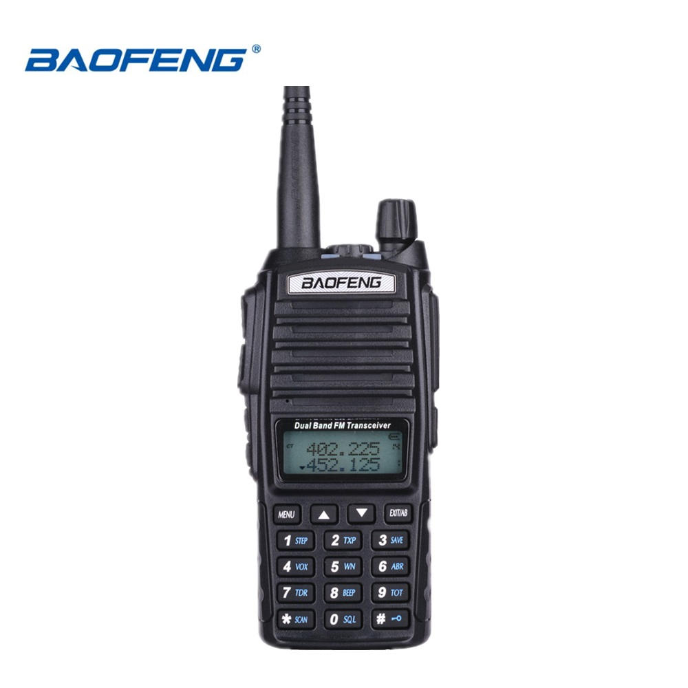 100% Baofeng UV-82 Talkie Walkie Double Bande Jambon Radio Interphone UV82 Deux Way Radio VHF UHF Portable Chasse Hf Émetteur-Récepteur UV 82