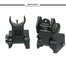 Hunting  Premium Mil Spec Flip up Front Rear Iron Sight Set  for 20mm Mount of Gun Rifle Airsoft Accessories все цены