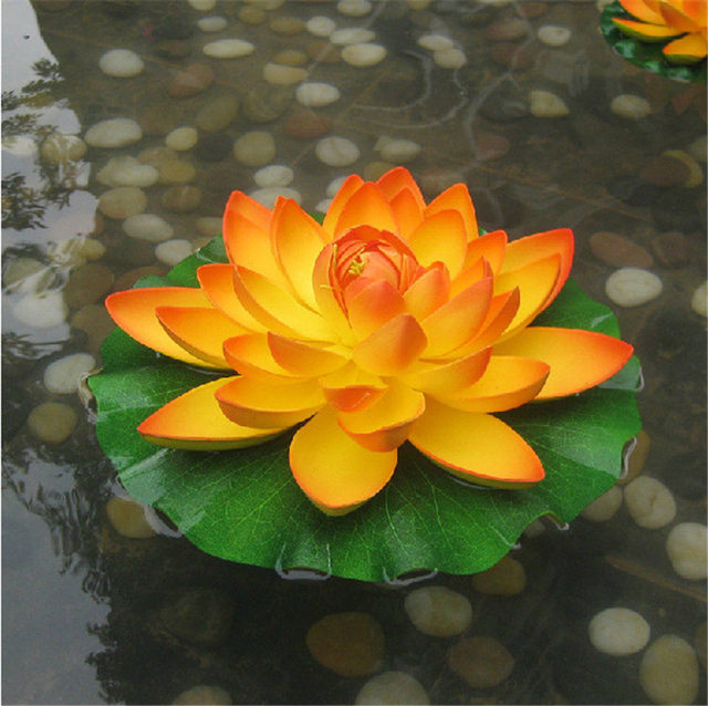 Online shop eva fake petals lotus flower pond decoration water lily eva fake petals lotus flower pond decoration water lily simulation plant immortal flower high end simulation flower wholesale mightylinksfo