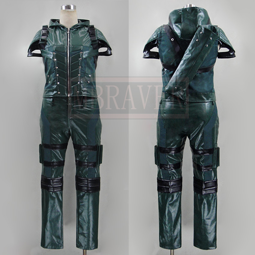 Green Arrow season 4 Cosplay Costume Superhero Oliver Queen green arrow leather cosplay costume