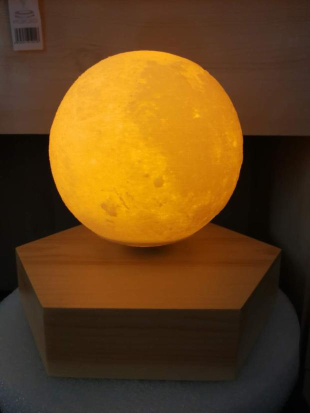 Magnetic Levitation Moon Light 3D Lunar Light 3D Print The Moon Air Lamp Birthday Gift Marriage