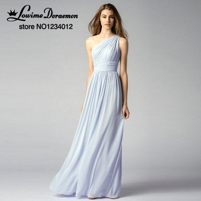 2017 neue Licht Blau Brautjungfer Kleider Für Hochzeiten Chiffon ...