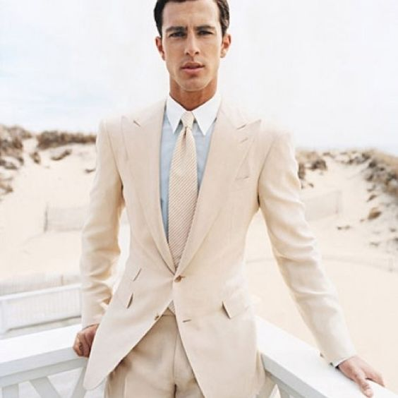 Latest Coat Pant Designs Ivory White Formal Wedding Suits For Men Custom Groom Beach Skinny 2 Pieces Blazer Masculino 118