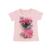 2017 de moda de verano de ropa para niños juegos niños chica boutique trajes de impresión floral de manga corta de algodón tops trajes de falda ropa