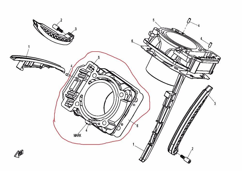Teeth Drive Belt Mitsuboshi Cylinder Bodypiston For Cfmoto Cf800