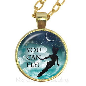 You Can Fly Glass Choker Necklace Gift For Student /Friends Motivating People Famous Aphorism Personality Phrase image