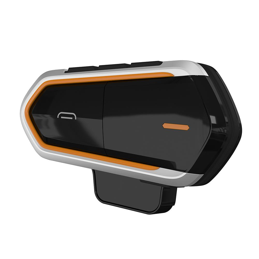 QTBE6 étanche sans fil Bluetooth mains libres moto casque casque FM Radio interphone