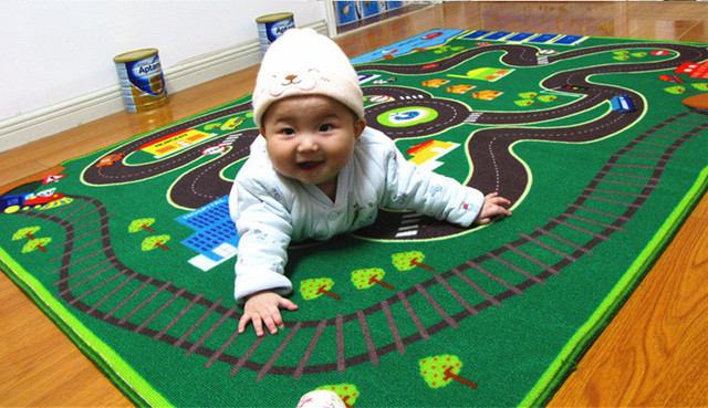 Novo Criativo campo De Corrida Veículo Brinquedos Esteira Do Jogo Do Bebê Tapetes de Carpete Rastejando Cobertor Jogo Multifuncional Bebê Criança Infantil Brinquedos