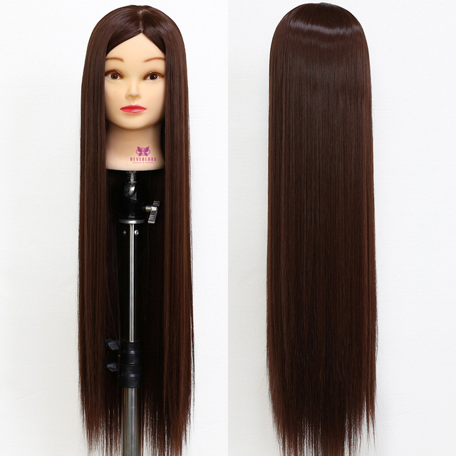 30 Long Matt Hair Training Head Hairdressing Mannequin Hairstyles Doll For Hairdresser