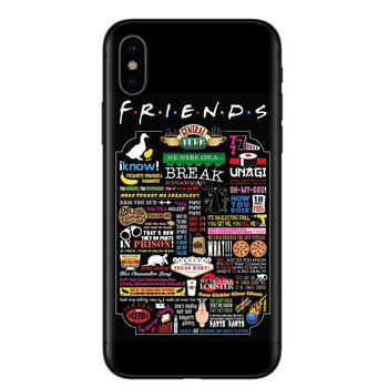 Central Perk Coffee friends tv show how you doin Black silicone Phone Case Cover For iPhone X XS XR MAX 5 5 6 6 7 7 8 8 Plus S E 1