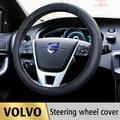 Caso de la cubierta del volante del coche de cuero para volvo s60 xc60 xc90 XC70 S80 V50 V60 V70 V40 S40 Auto Accesorios car styling