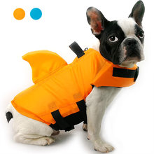 Shark Pet Dog Life Jacket Pet Safety Clothes For Dogs Pet Life Vest Dogs Swimwear Pet Safety Swimsuit Dog Swimming Suit Bulldog(China)