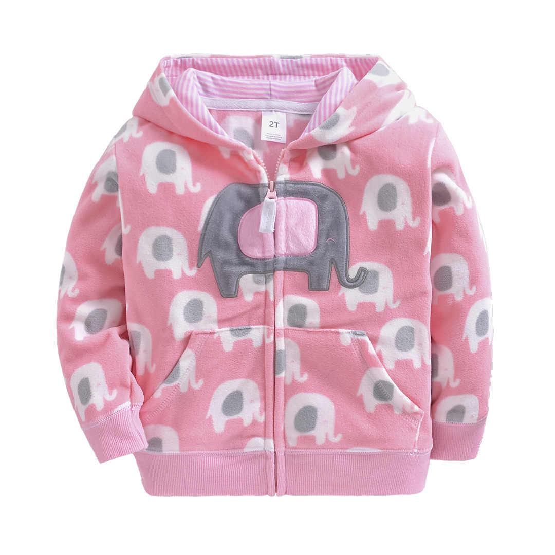 Kids 2019 jas fleece baby kleding jas meisjes jas kinderen rits jas peuter jas 2-5 T baby meisje jas lente Hooded