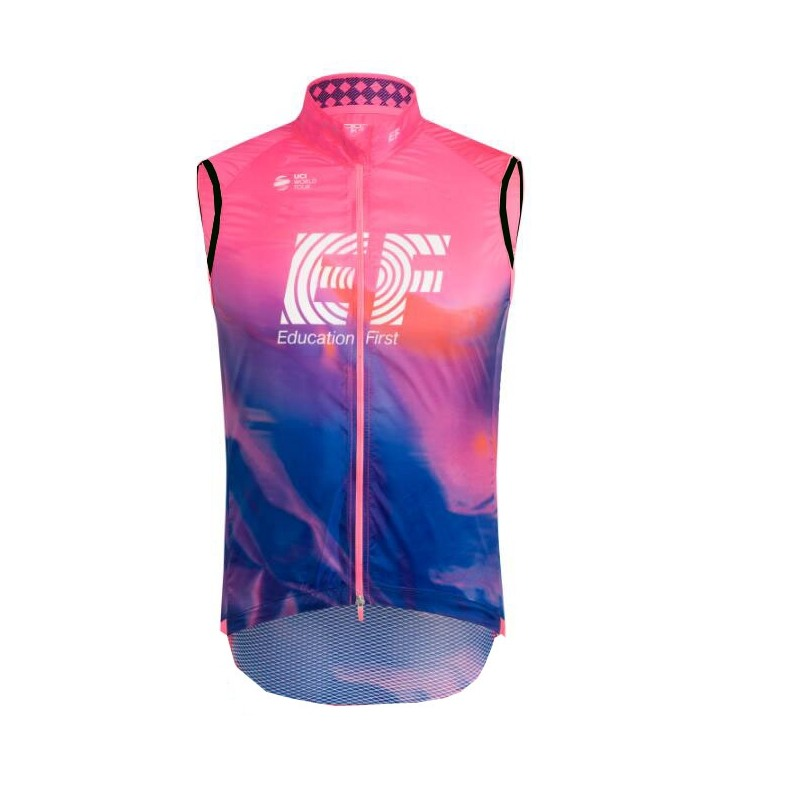2019 pro team EF pink windproof cycling vest 3 pockets breathable mens summer bike cloth MTB Ropa Ciclismo Bicycle maillot gilet2019 pro team EF pink windproof cycling vest 3 pockets breathable mens summer bike cloth MTB Ropa Ciclismo Bicycle maillot gilet