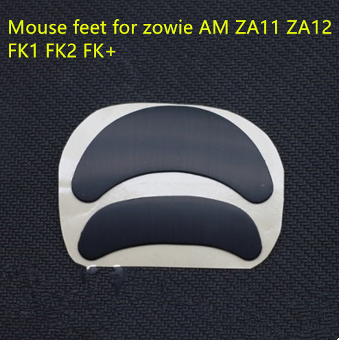 2 Sets/pack Teflon Mouse Skates Mouse Feet For ZOWIE AM ZA11 ZA12 FK1 FK2 FK+ Thickness Is 0.6mm