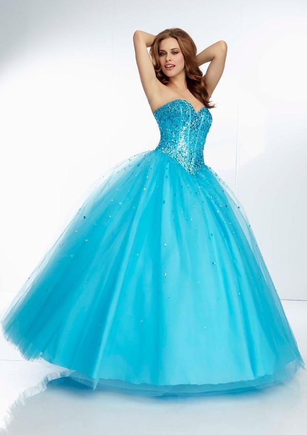 blue ball gown prom dress | Gommap Blog