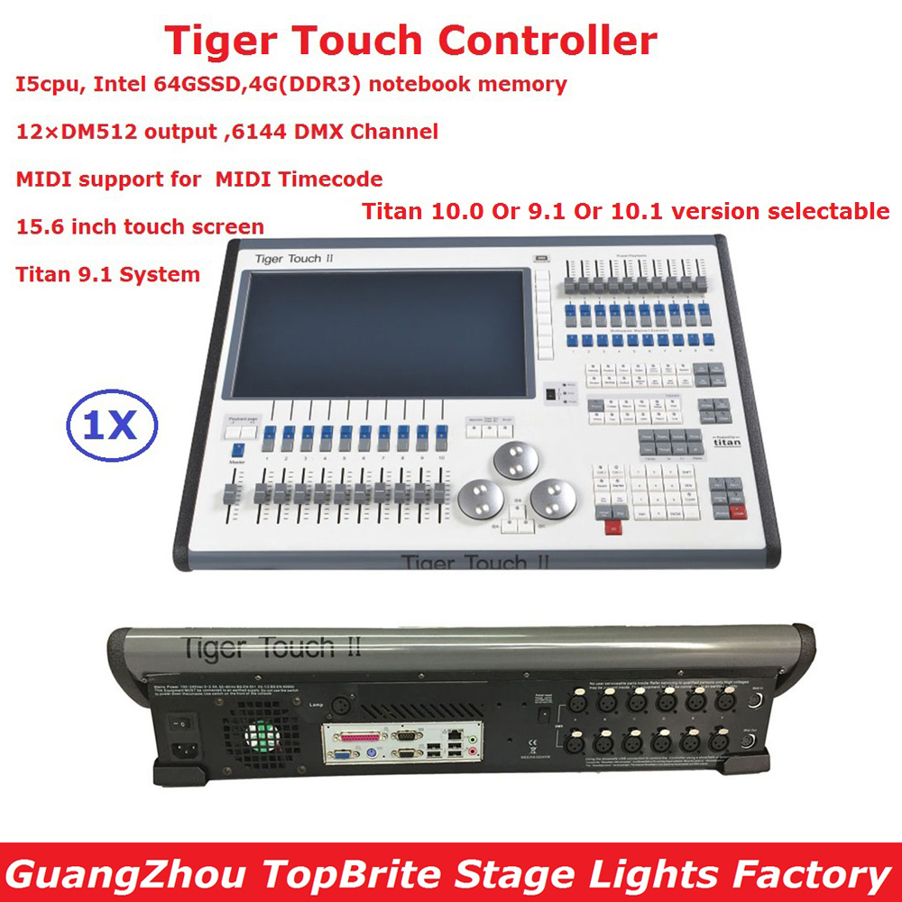 Factory Price 1 Unit DMX Stage Controller Tiger Touch Console Professional Led Par Disco Stage Lighting Equipments With 6144 Chs dmx512 digital display 24ch dmx address controller dc5v 24v each ch max 3a 8 groups rgb controller