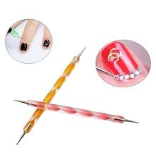 1 шт Профессиональный 2 головки для ногтей точечная ручка роспись под мрамор инструмент для ногтей ручка для дизайна ногтей УФ-гель Инструмент для ногтей