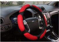 Winter Car Steering Wheel Cover Anti Slip 38CM 15 Ix35 Ix25 K2 K3 High Quality Sandwich