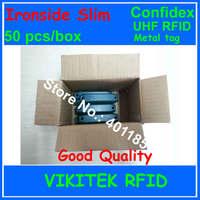 Confidex Ironside slim UHF RFID metal tag 50 pcs per box 860 940MHZ 915M EPC C1G2 ISO18000 6C for global asset tracking
