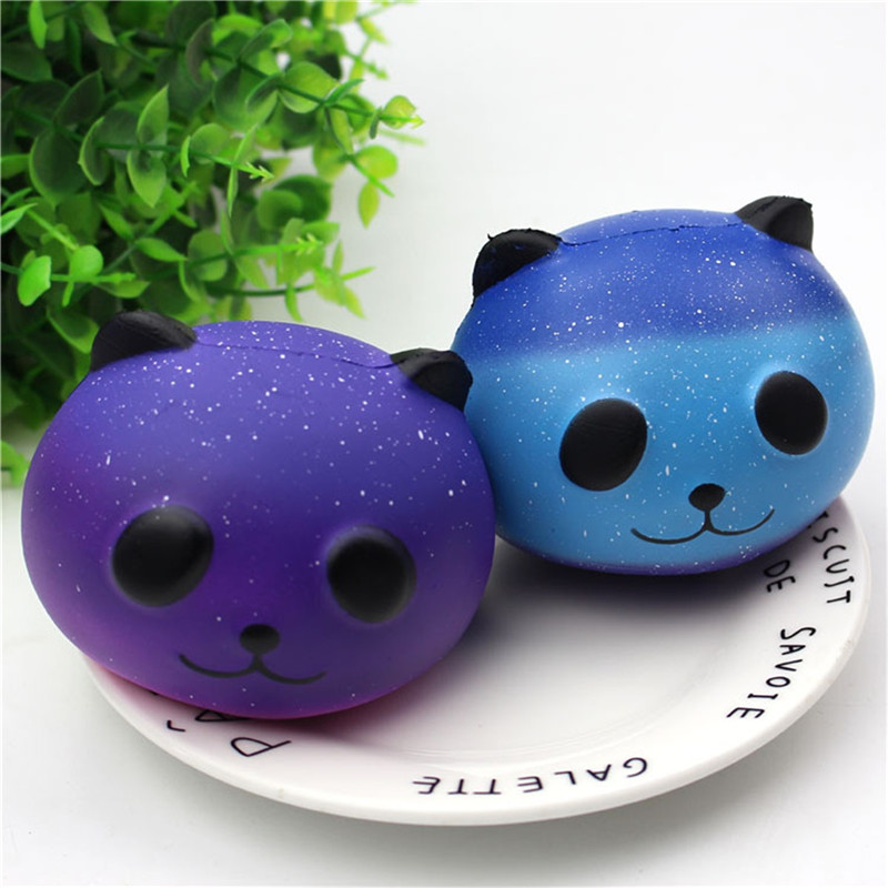 Kawaii Design Panda Squishy Slow Rising Cream Scented Fun Antistress Novelty Funny Gadgets Anti Stress Squeeze Galaxy Toys