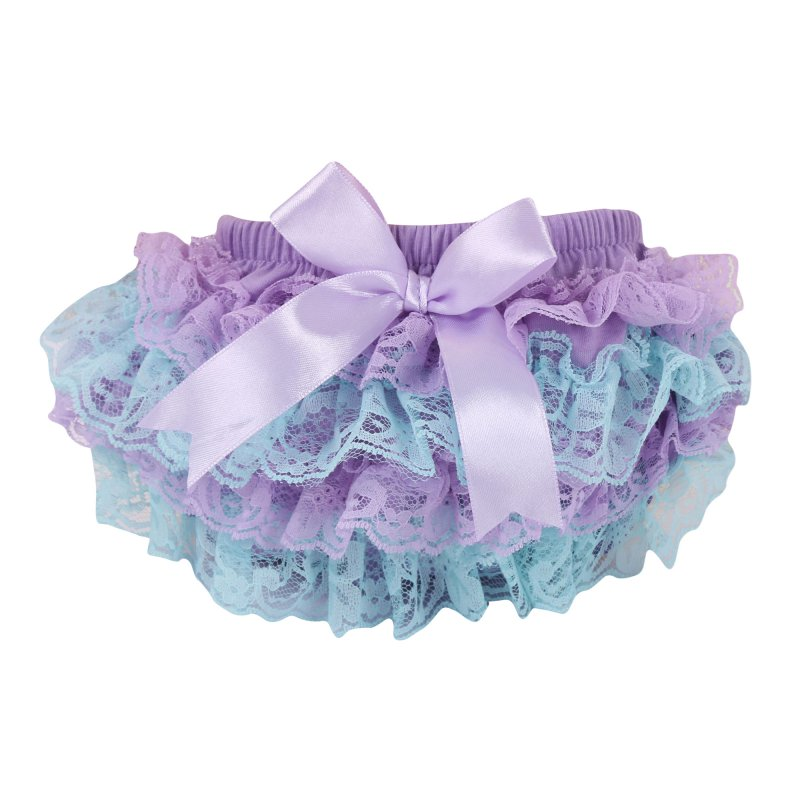 Toddler Girls Lace Ruffle Shorts Bloomers Nappy Cover Tutu Shorts Bottoms Skirts For Baby