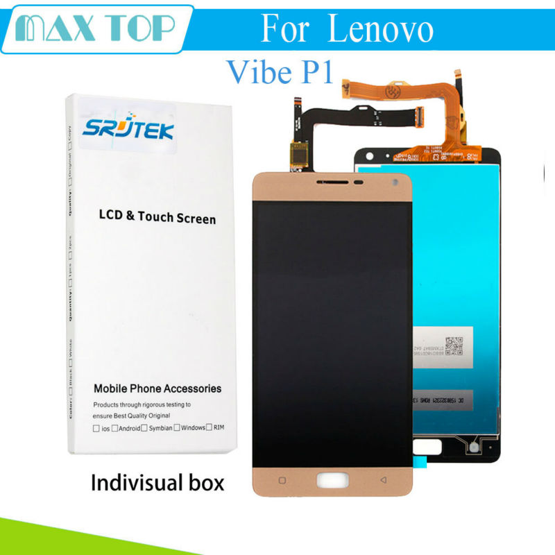 For Lenovo Vibe P1 LCD Display Touch Digitizer Screen Assembly P1c72 P1a42 p1c58 For Lenovo Vibe P1 LCD Replacement P аксессуар чехол lenovo k10 vibe c2 k10a40 zibelino classico black zcl len k10a40 blk