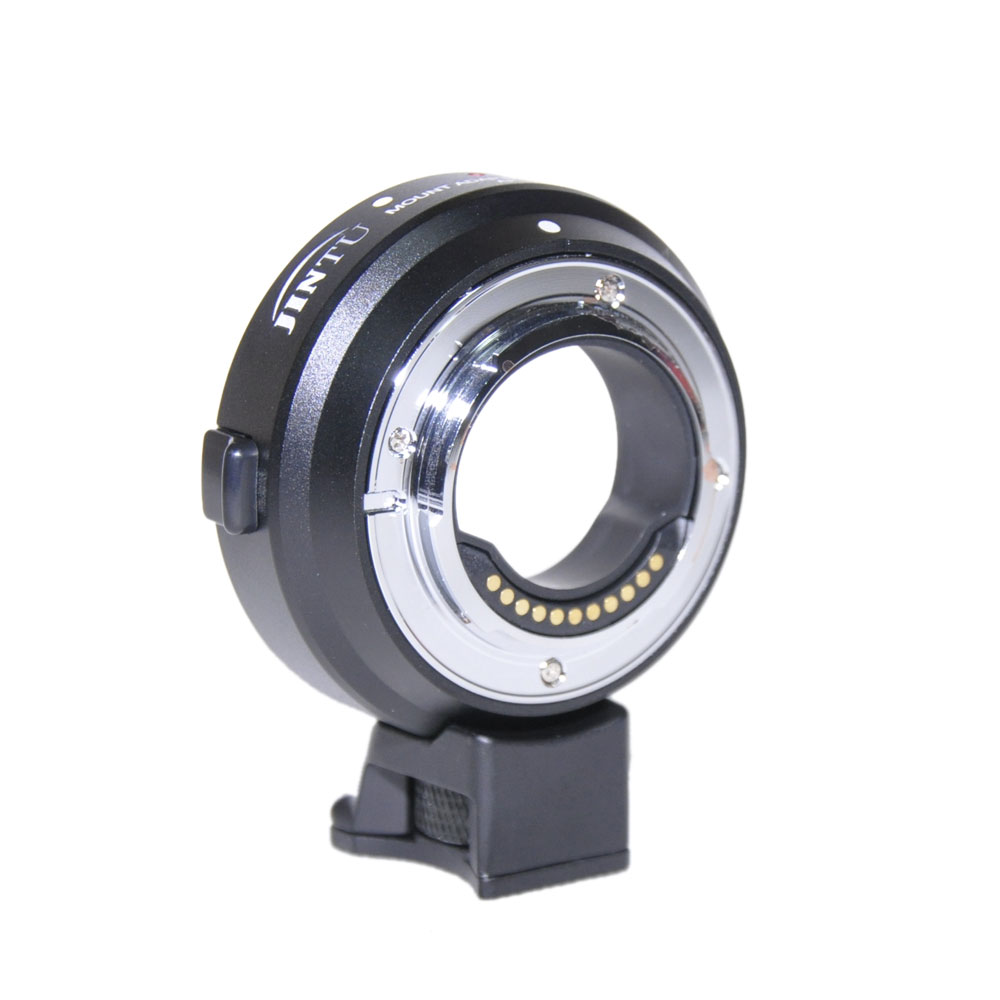 Jintu Auto Focus Lens AF Mount Adapter EF-M4/3 For Canon EOS EF/EF-S To Panasonic GH3 GH4 GH5 GX7 G10 Olympus E-M5 E-M5II E-M10 fotga lens adapter ring for canon ef efs lens to olympus panasonic micro 4 3 m4 3 e p1 g1 gf1 gh5 gh4 gh3 gf6 cameras
