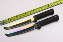 New High Quality! Cold Steel Samurai Survival Fixed Knives,5CR15 Blade Long Kraton Handle Hunting Knife