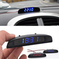 10 piece 12V Original Car Interior 3 In 1 Car Clock with Thermometer and Voltage Monitor (Seven Kinds of Display Mode)