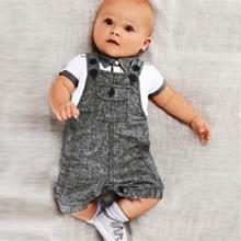 Infants Baby Boys 2PCS Clothing Set T-shirt Top+Bib Pants Clothes Sets Jumpsuit Overall Costume LS9
