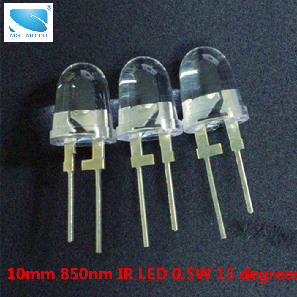 2PCS/LOT 10mm 0.5W IR LED high power infrared diode infrared LED 850nm infrared lamp Copper leg heat dissipation постельное белье arya filibe комплект 2 спальный сатин с вышивкой tr1003035