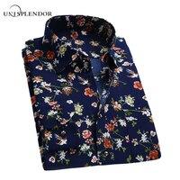 2016 Retro Floral Printed Man Shirts Fashion Classic Men Dress Shirts Quick Dry Breathable Men S