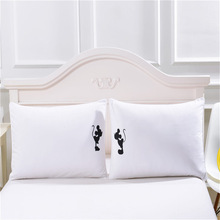 Cute Mickey Mouse Pillow Case White Couple Lovers Gift Pillow Throw Pillowcases Home Beddroom Two Pair Pillows Bedding Set Capa
