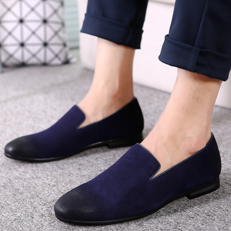 2018 breather men shoes high quality cow suede dress shoes men slip on loafers oxford shoes for men formal mariage wedding shoes