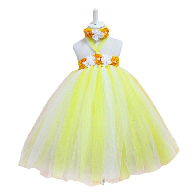 Licht gelb weiß tutu kleid Flusen Geburtstag Hochzeiten Taufe ...