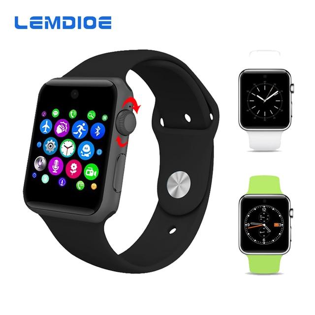 Lemdioe LF07 Bluetooth Smart часы 2.5D Arc HD Экран Поддержка sim-карты носимого устройства SmartWatch для IOS ОС Android