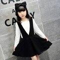 Новый 5-13 т платье девушки, набор с длинным рукавом осенью, девушка моды брекеты юбка костюмы