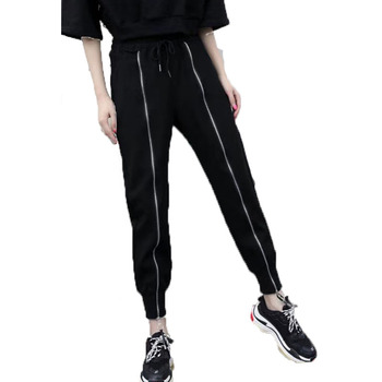 Women Pants Black 2020 New Arrival Spring And Autumn Zipper Pockets Casual Female Teenager Girls European Style N10