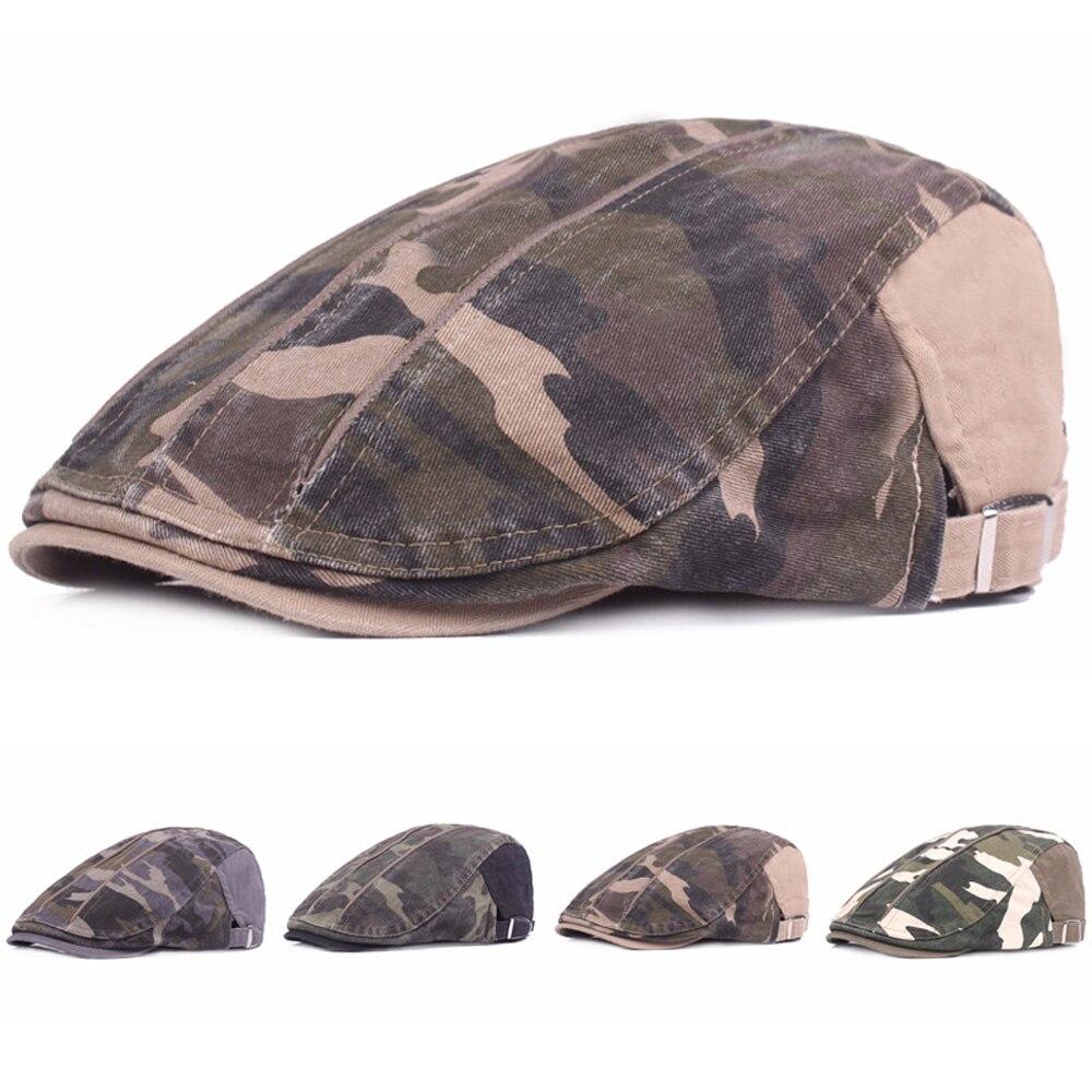 Men Stylish Camouflage Sun Driving Golf Cap High Quality Adjustable Beret Hat